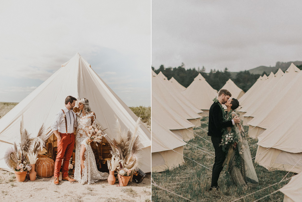 Fotos:  Valerie Thompson Photography  y  Kindred Weddings