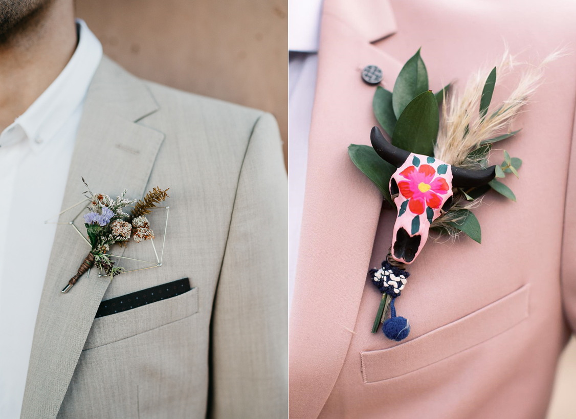 Foto:  The Times We Have   Boutonniere:  María Limón     Estructura:  On Foundations    / Foto:  Jess Leigh Photographer  Boutonniere:  Flora Amor