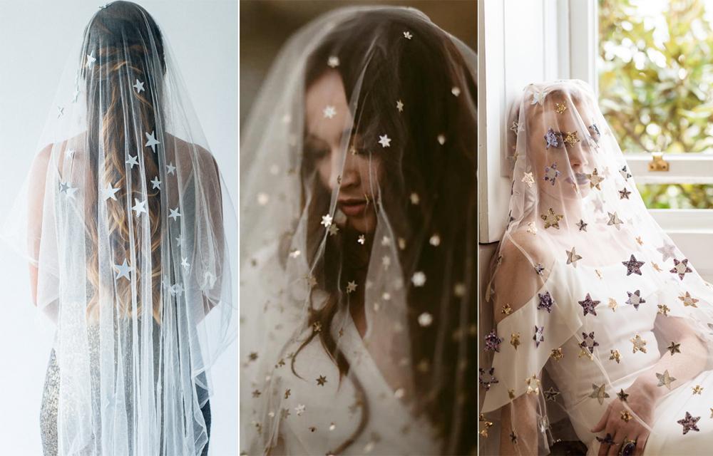 Foto:  Olivia Bossert Photography  Velo: Luna Bea Bride  / Foto:  Dawn Thomson  Velo:  Twigs & Honey  / Foto:  SARAH BROOKES PHOTOGRAPHY  Velo:  WOBURN BRIDAL
