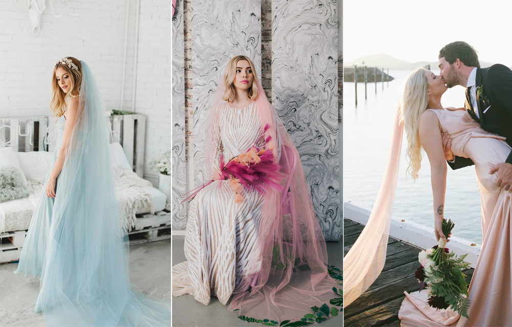 Velo:  Veiled Beauty  / Foto:  Lisa Jane Photography  Velo:  Crown & Glory para Rock & Roll Bride  / Foto:  Chantelle Stagg Photography