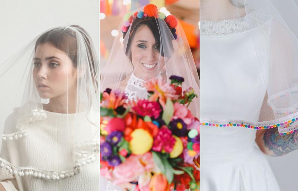Velo:  AM Faulkner  / Foto:  Lara Hotz  / Velo:  Crown & Glory para Rock & Roll Bride