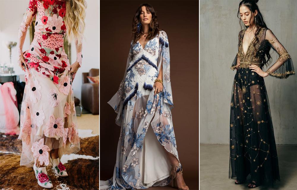 Vestidos:  Naeem Khan ,  Rue De Seine  y  Cucculelli Shaheen .