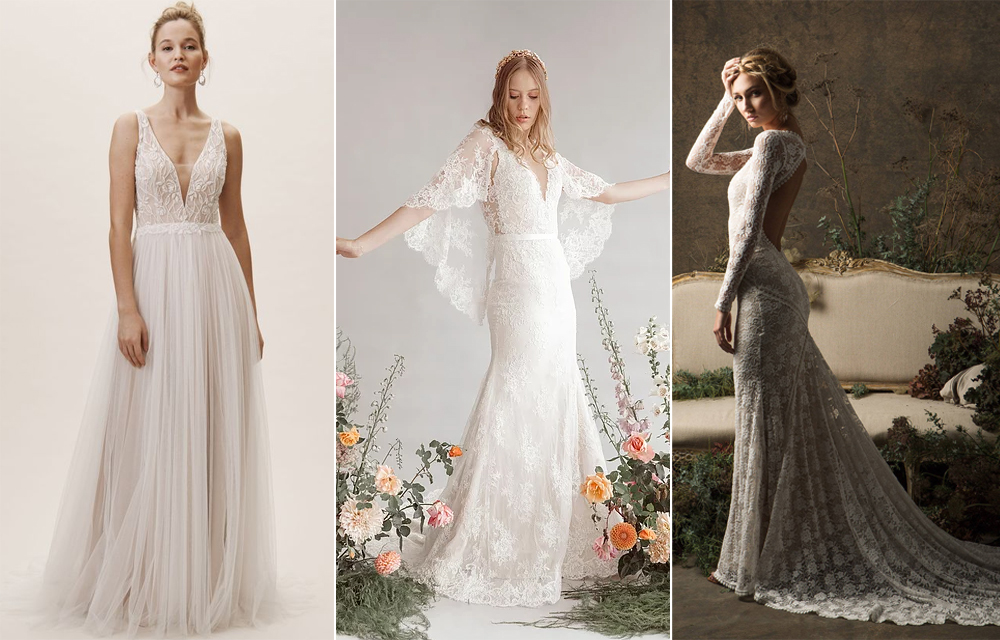 Vestidos:  BHLDN ,  Adriana Madrid  y Dreamers &  Lovers .