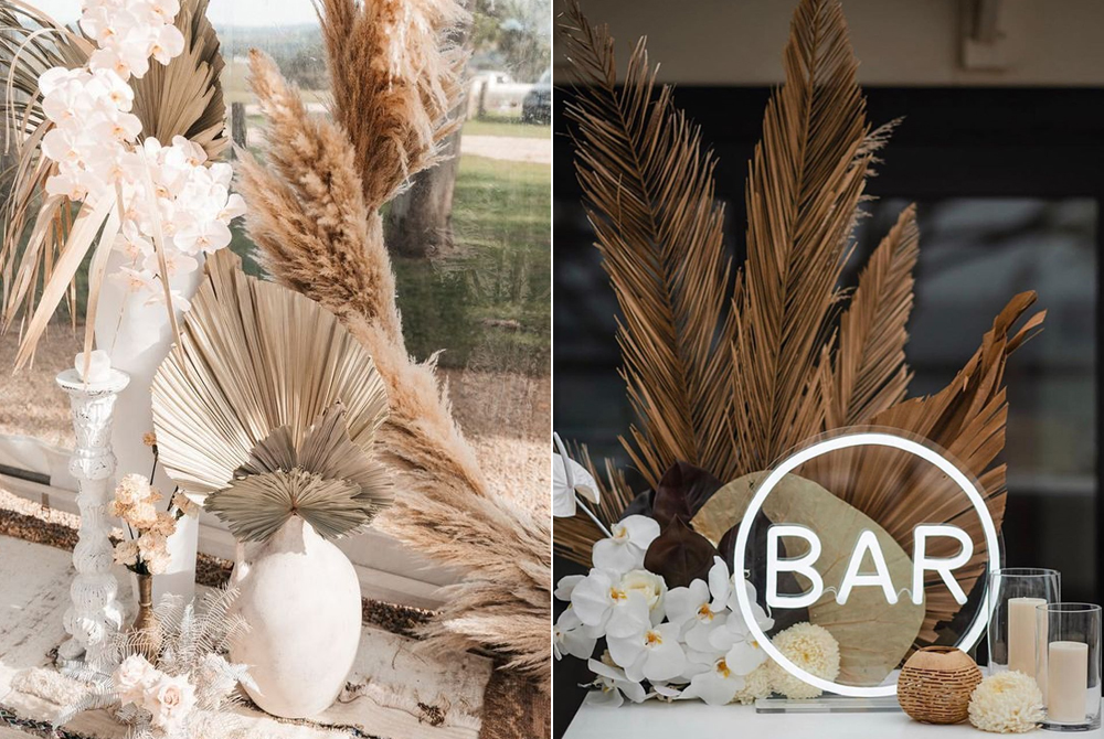 Diseño:  Byron Bay Weddings  / Foto:  Asher King  Diseño Floral:  Bower Botanicals