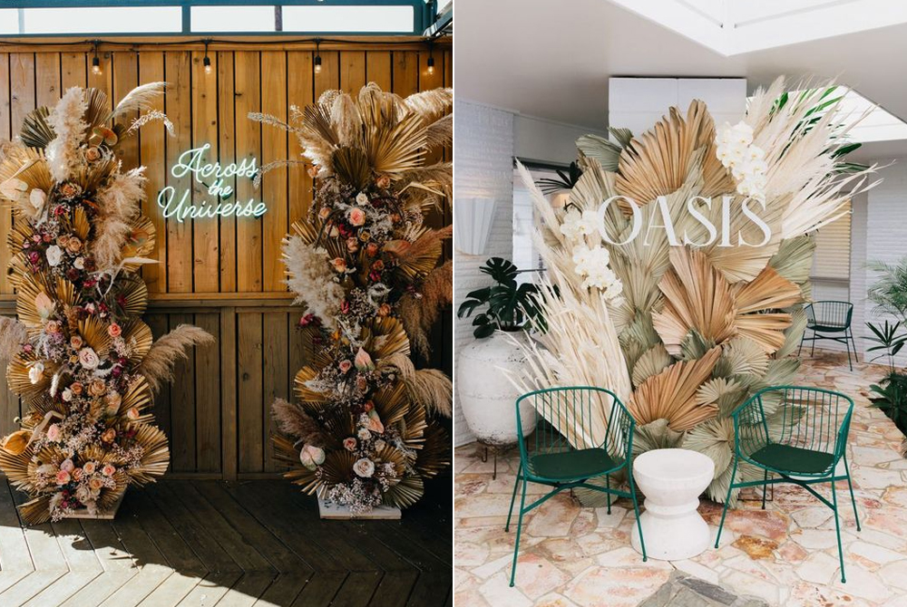 Foto:  Sara K Byrne  Diseño floral:  Tess Made  / Foto:  A Pair & A Spare