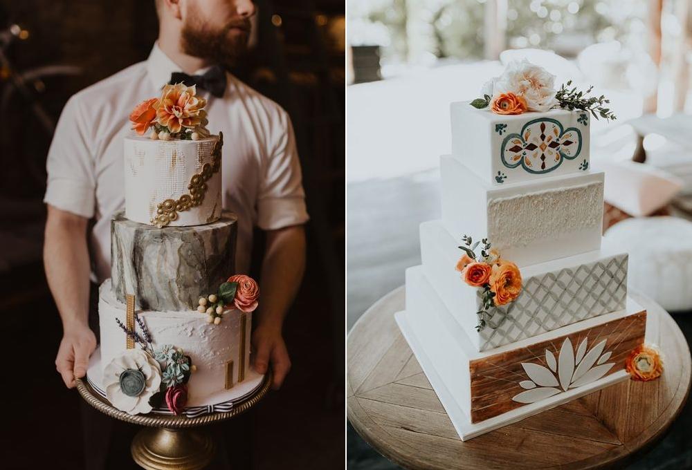 Pasteles:  Whitney Dawn Cake Design  y  Zaida Marcos