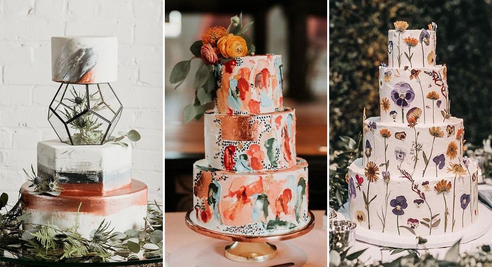 tendencias pastel de bodas