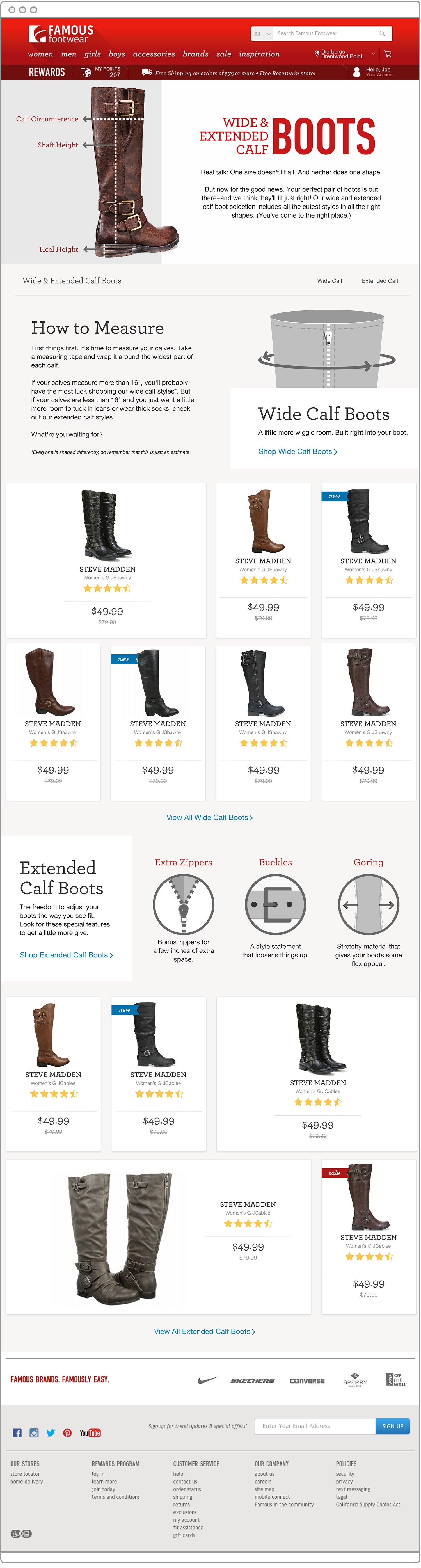 Wide Calf Boots Landing Page — Theresa