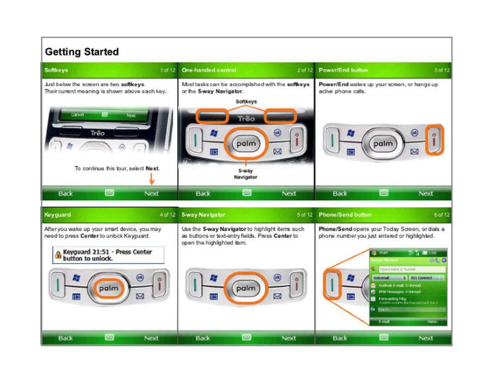 Treo 800 Quick Tour Redesign  Palm Computing