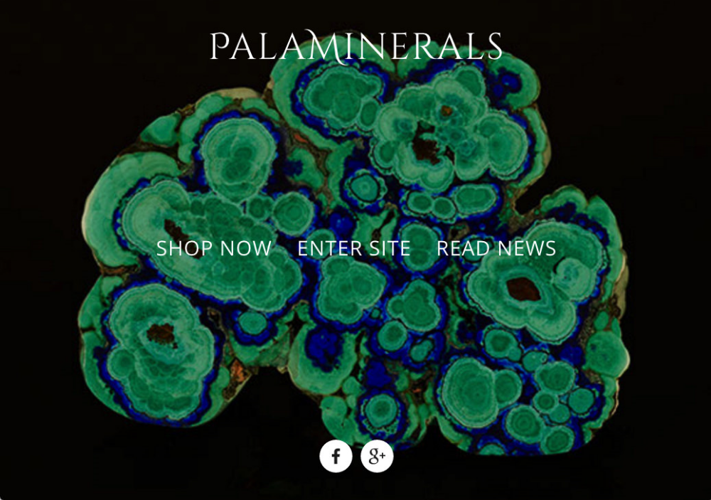 Palaminerals    mineral specimen dealer    Squarespace front-end with PHP ecommerce back-end