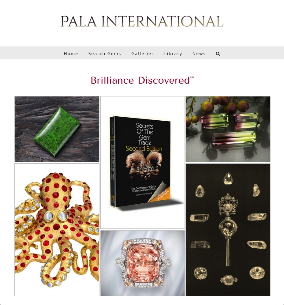 Palagems home page