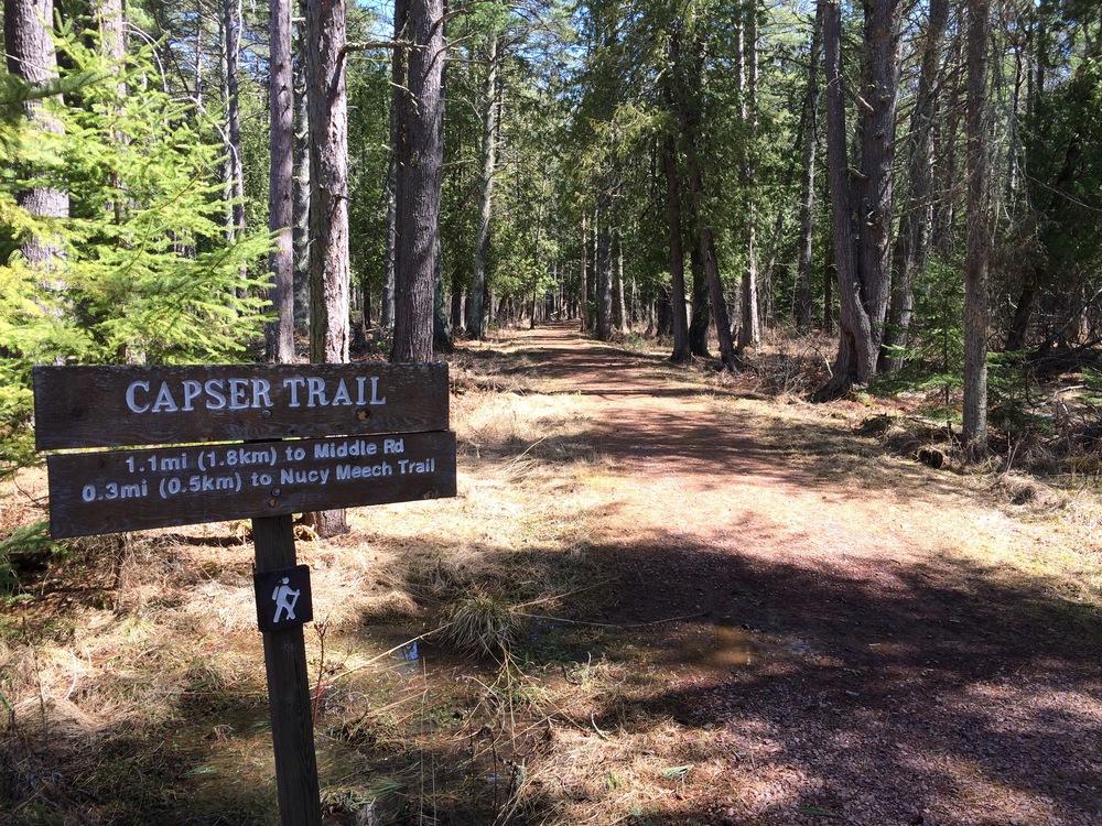 Beginning of Capser Trail Across From Firehouse