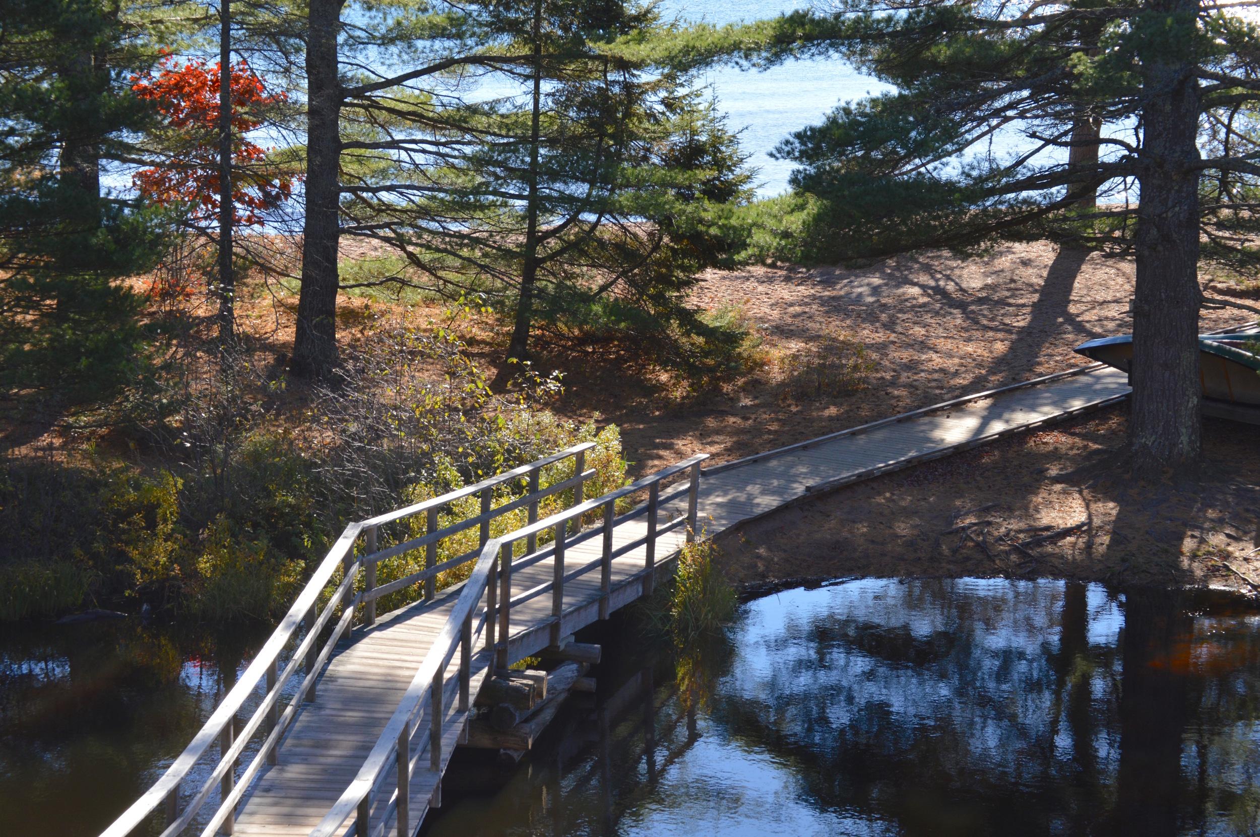 The Bridge Over Lagoon to Beach