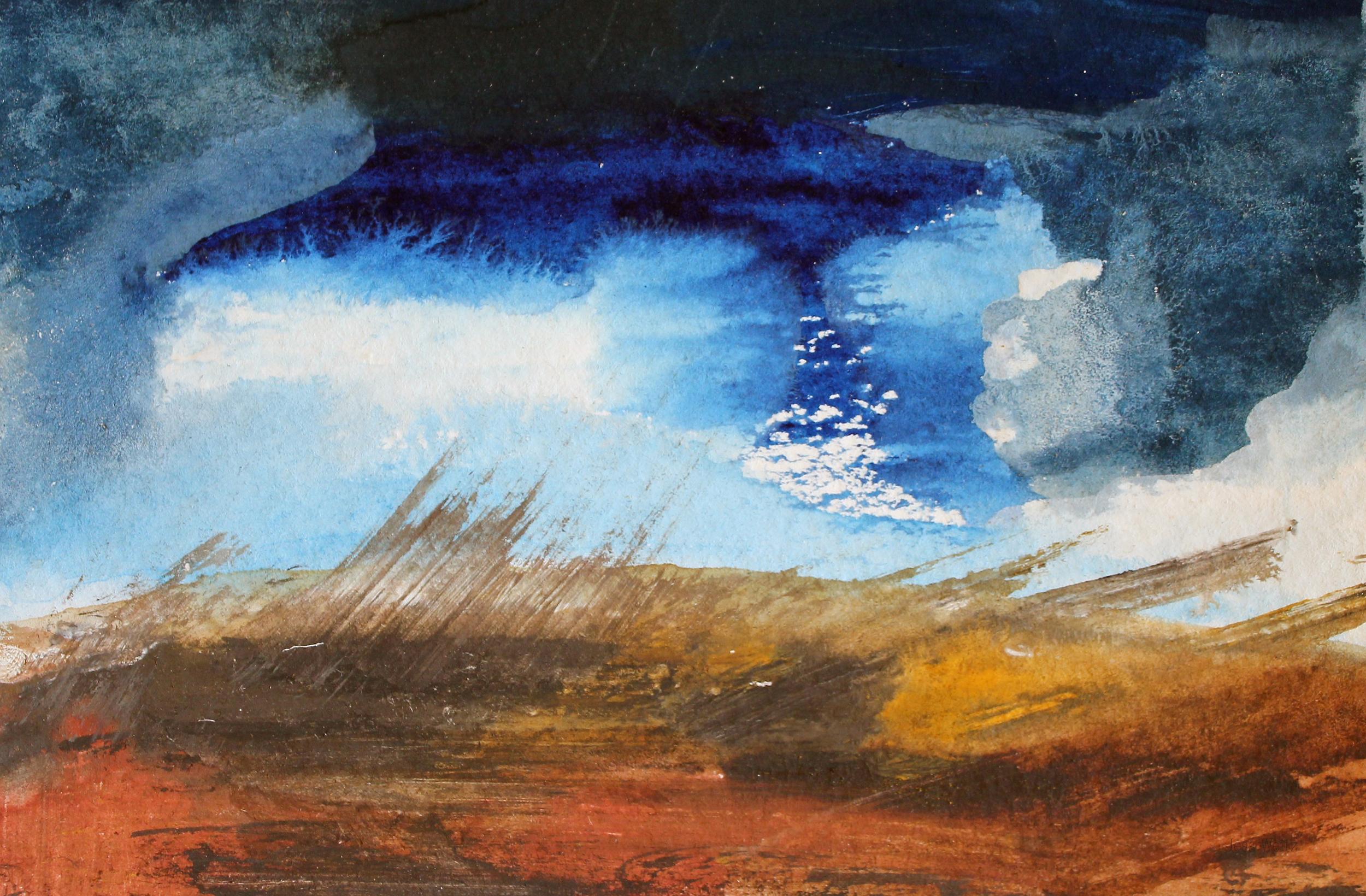 Earth:Sky |  G ouache on paper, 2015