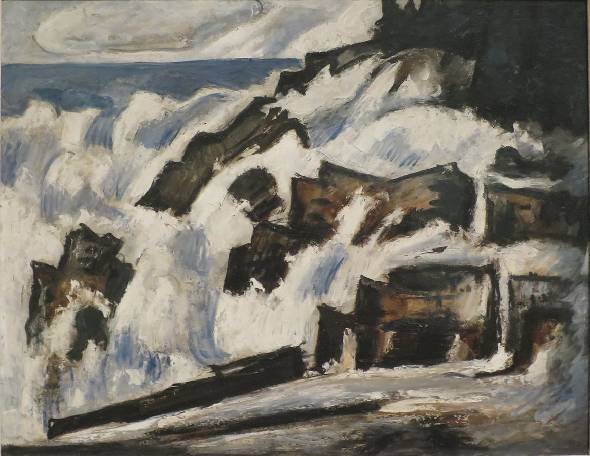 The Spent Wave, Indian Point, Georgetown, Maine  by Marsden Hartley, 1937-1938, oil on canvas, Columbus Museum of Art