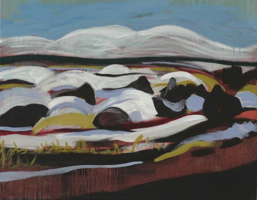 Melt , oil on canvas, 55 x 70cm, 2013