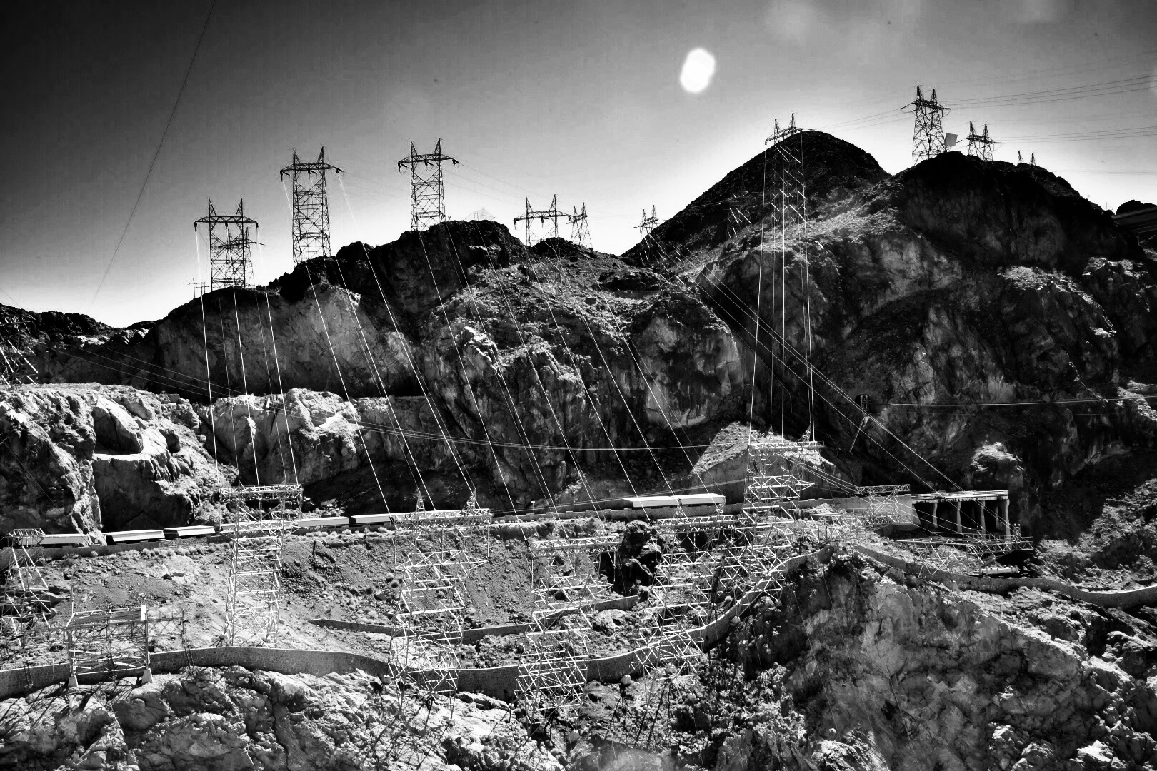 High Tension Juice Heading for LA, Hoover Dam | WILLIAM C. CRAWFORD  Digital photography, 2015