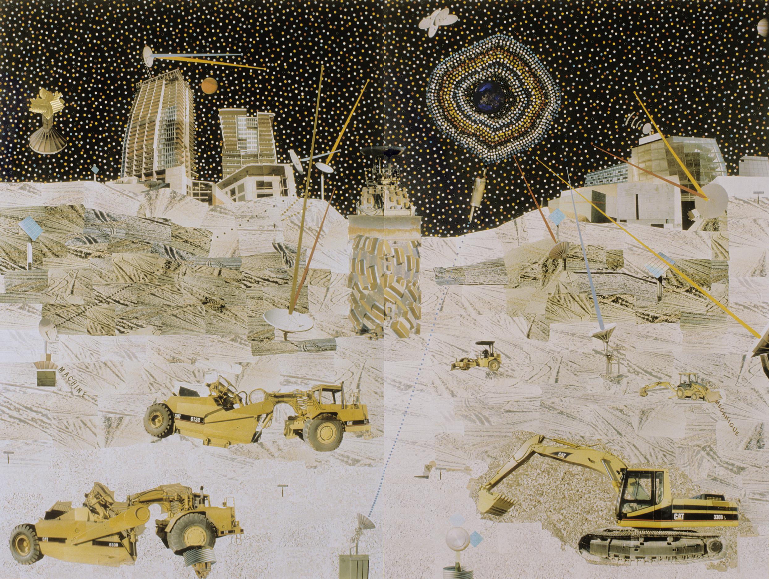 """La Lune . C-Print Collage, 72 x 96"""", 2008."""