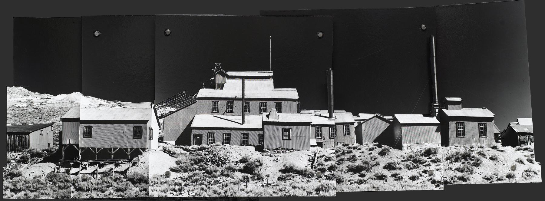 """1899 . Gelatin Silver Print & Steel Collage, 10.25 x 29.25 x 3.75"""",  2005-2006."""