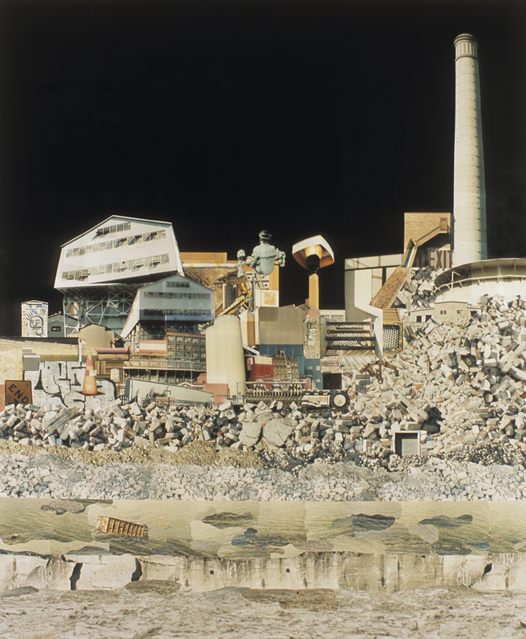 "A Dark Place . C-Print Collage, 72 x 60"", 2006."