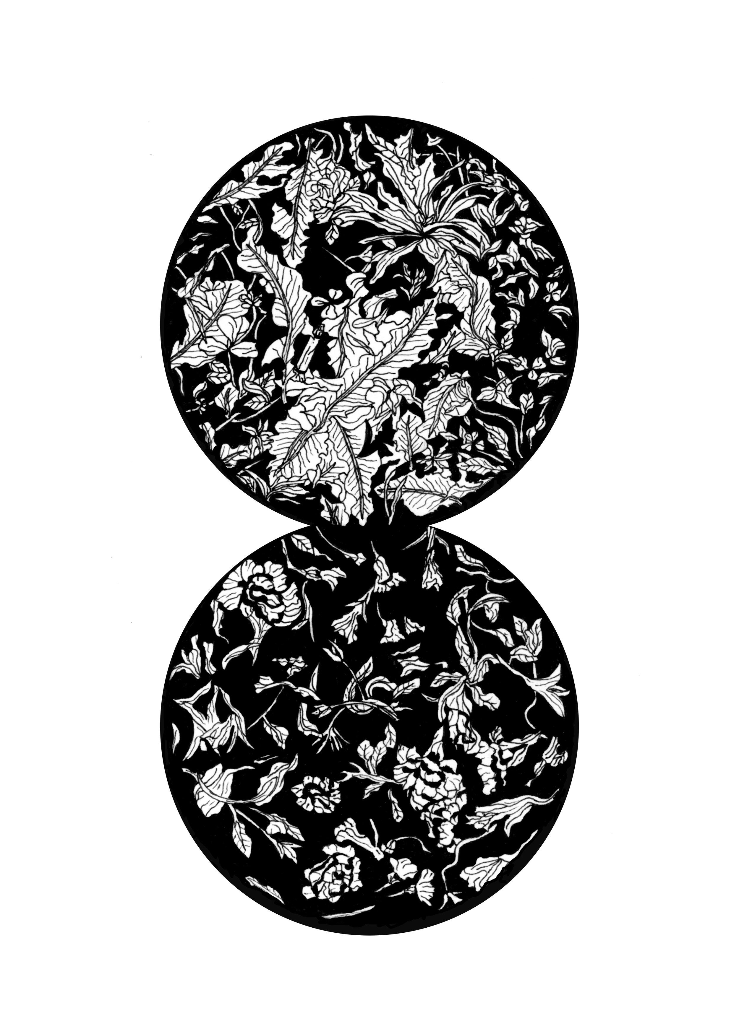 We Were Here: Cigarette/Deadheads | NATALIE VESTIN  Ink on paper, 4 1/2 x 6 in., 2016