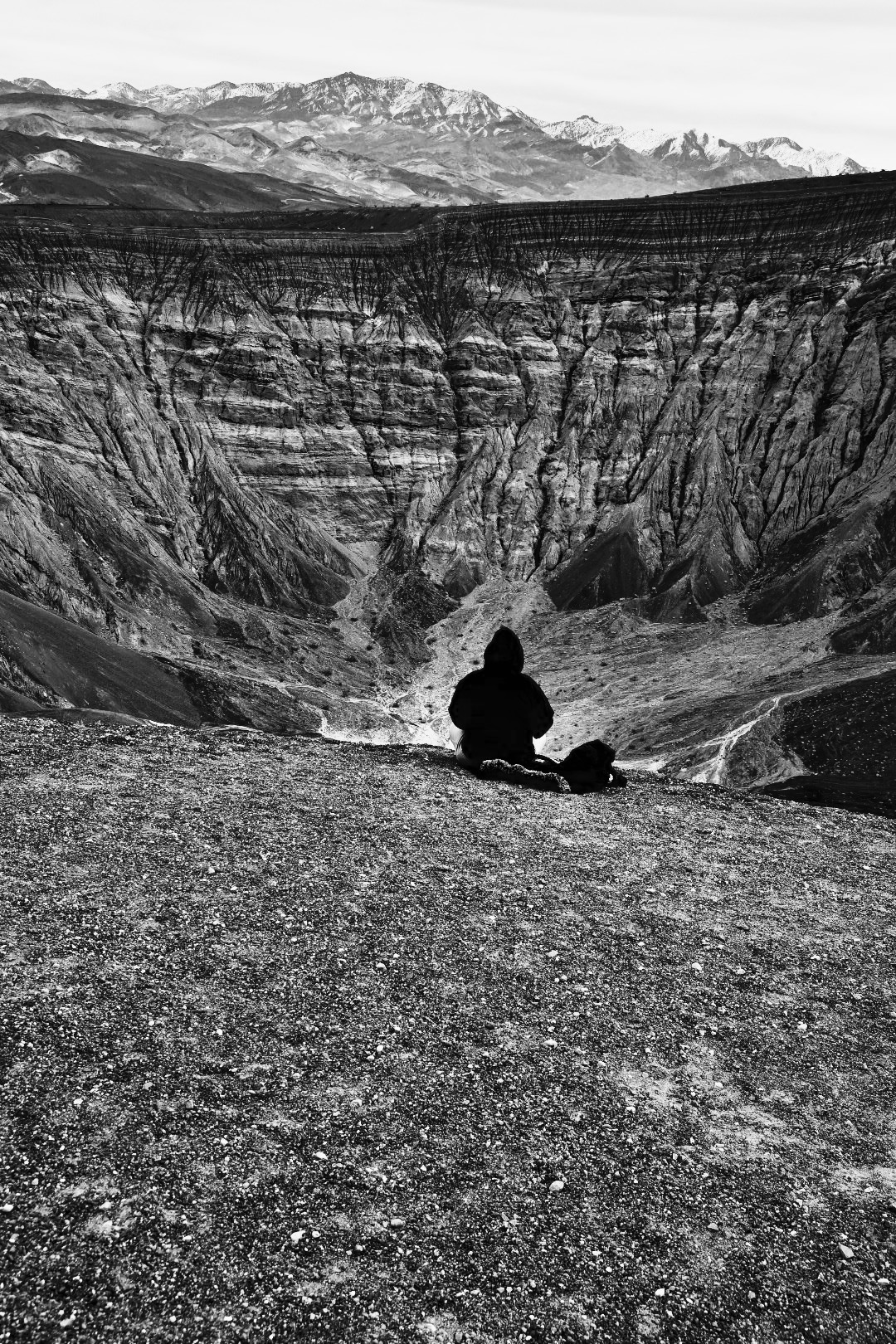 Hooded View of Death Valley Crater   WILLIAM C. CRAWFORD  Digital photography, 2015