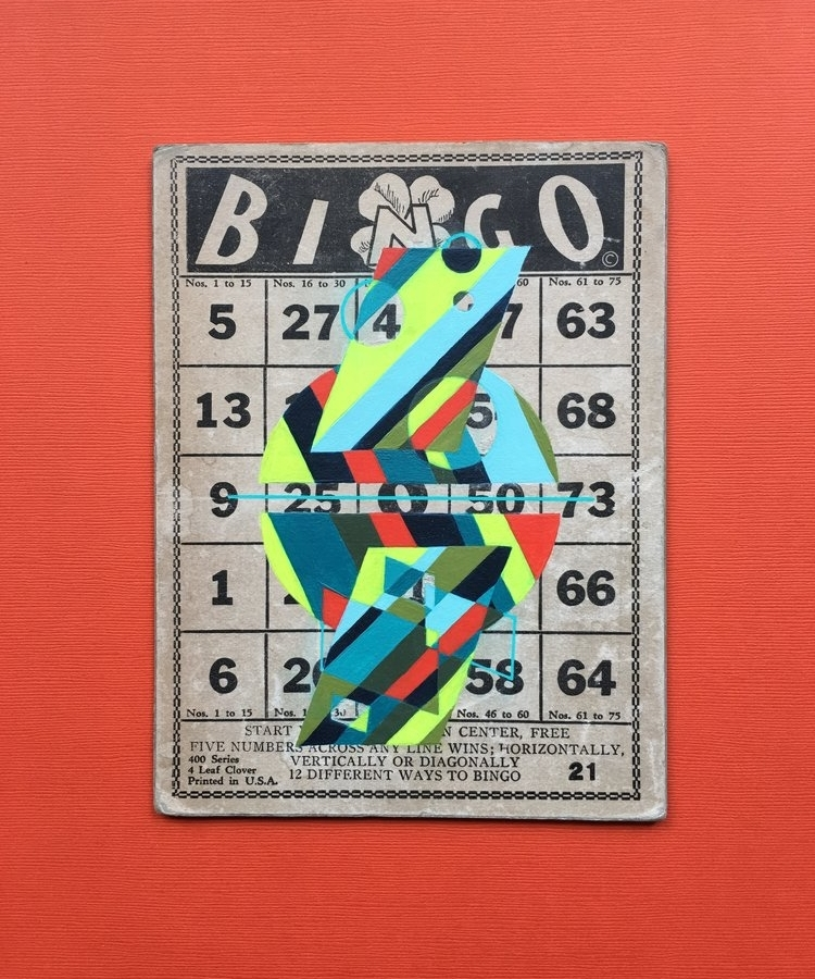 """Luck is a very thin wire between survival and disaster"" –Hunter S. Thompson   SOLD  