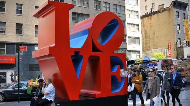 This is Robert Indiana's Love Sculpture, I think in NYC though there are copies all over.