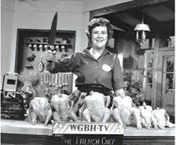 Julia Child with the Chicken Sisters