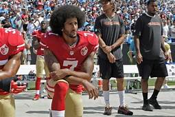Colin Kaepernick, before he was fired for taking a stand against police violence