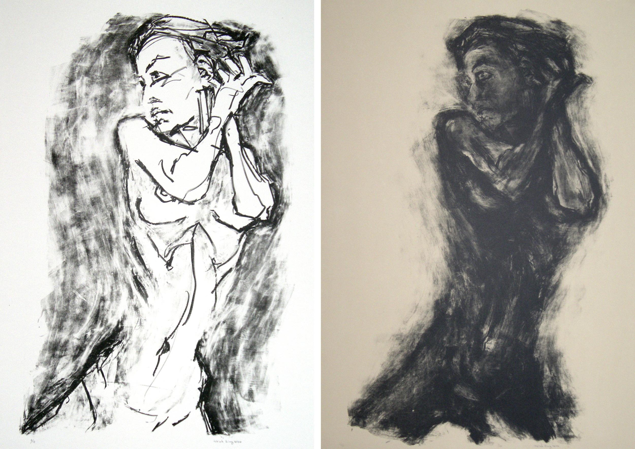 Nude on Knees (1 & 2)