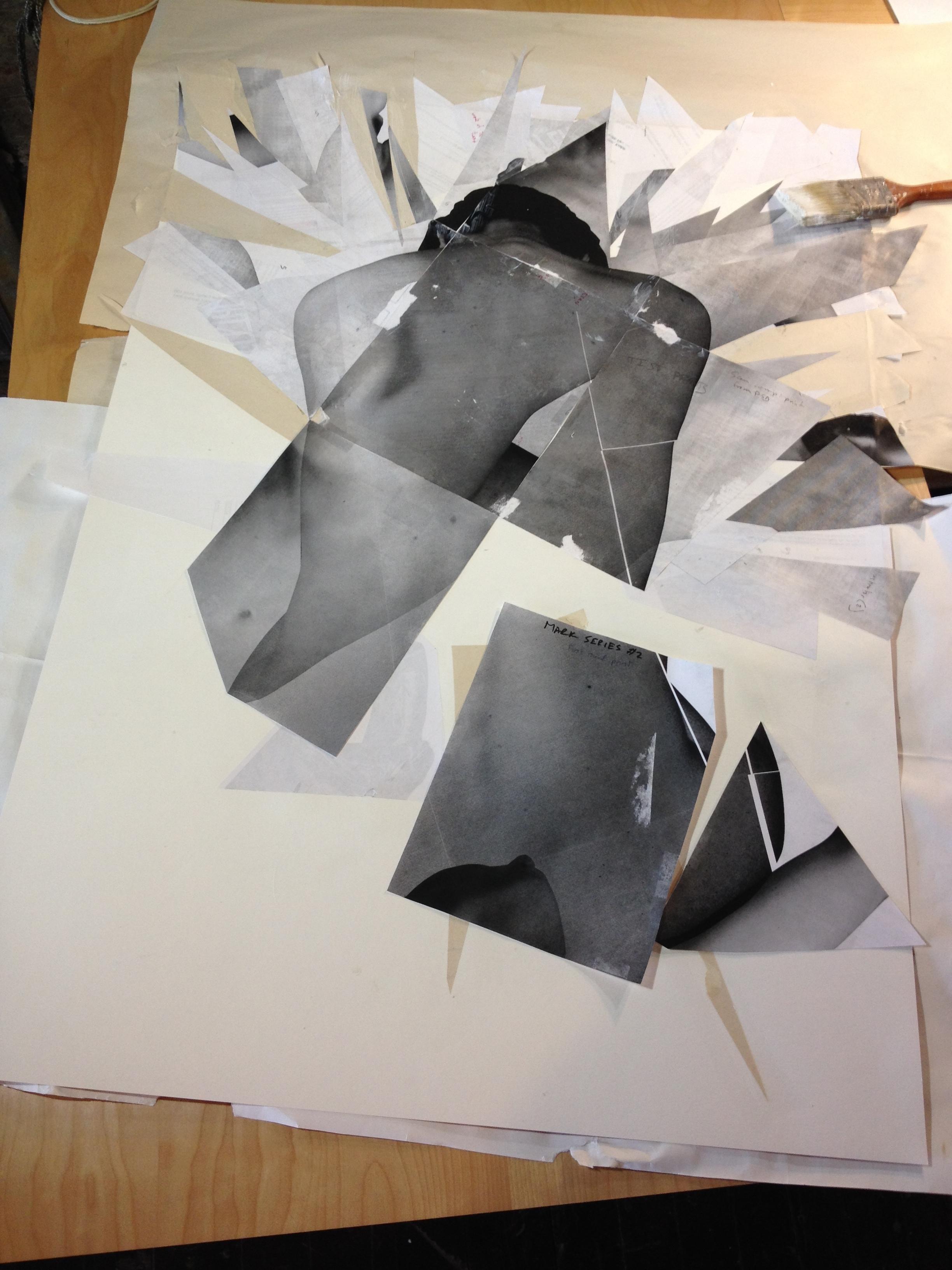 Mark No. 3: Collage in progress
