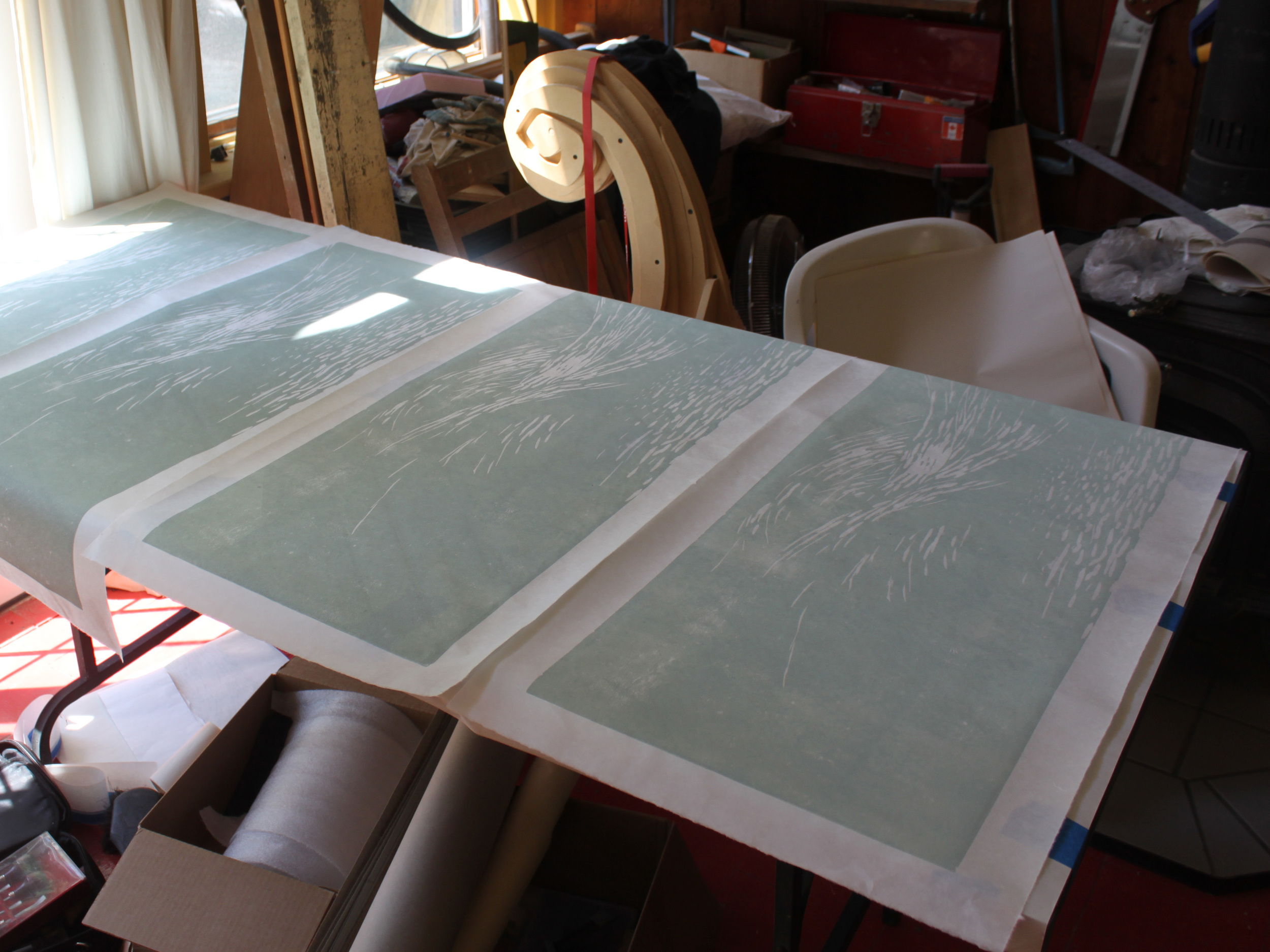 Printing the first color