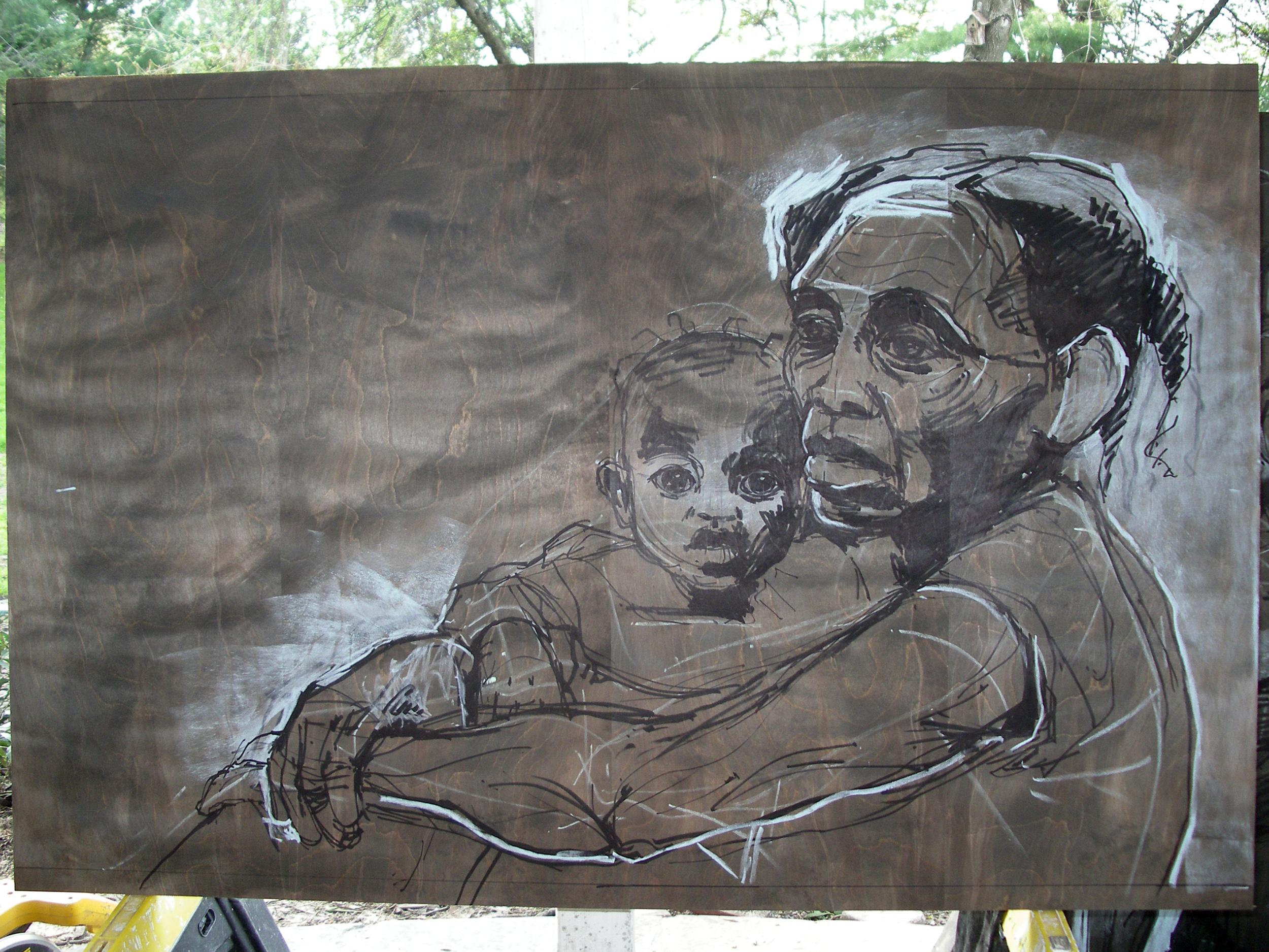 Roseline & Wadeline: Developing drawing