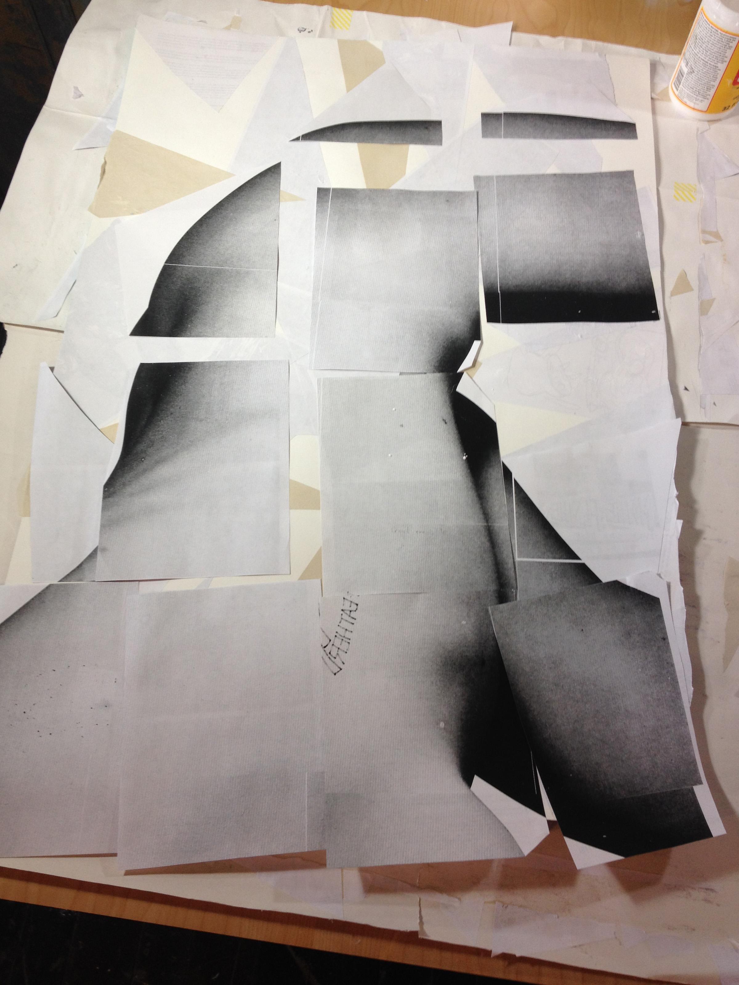 Mark No. 5: Collage in progress