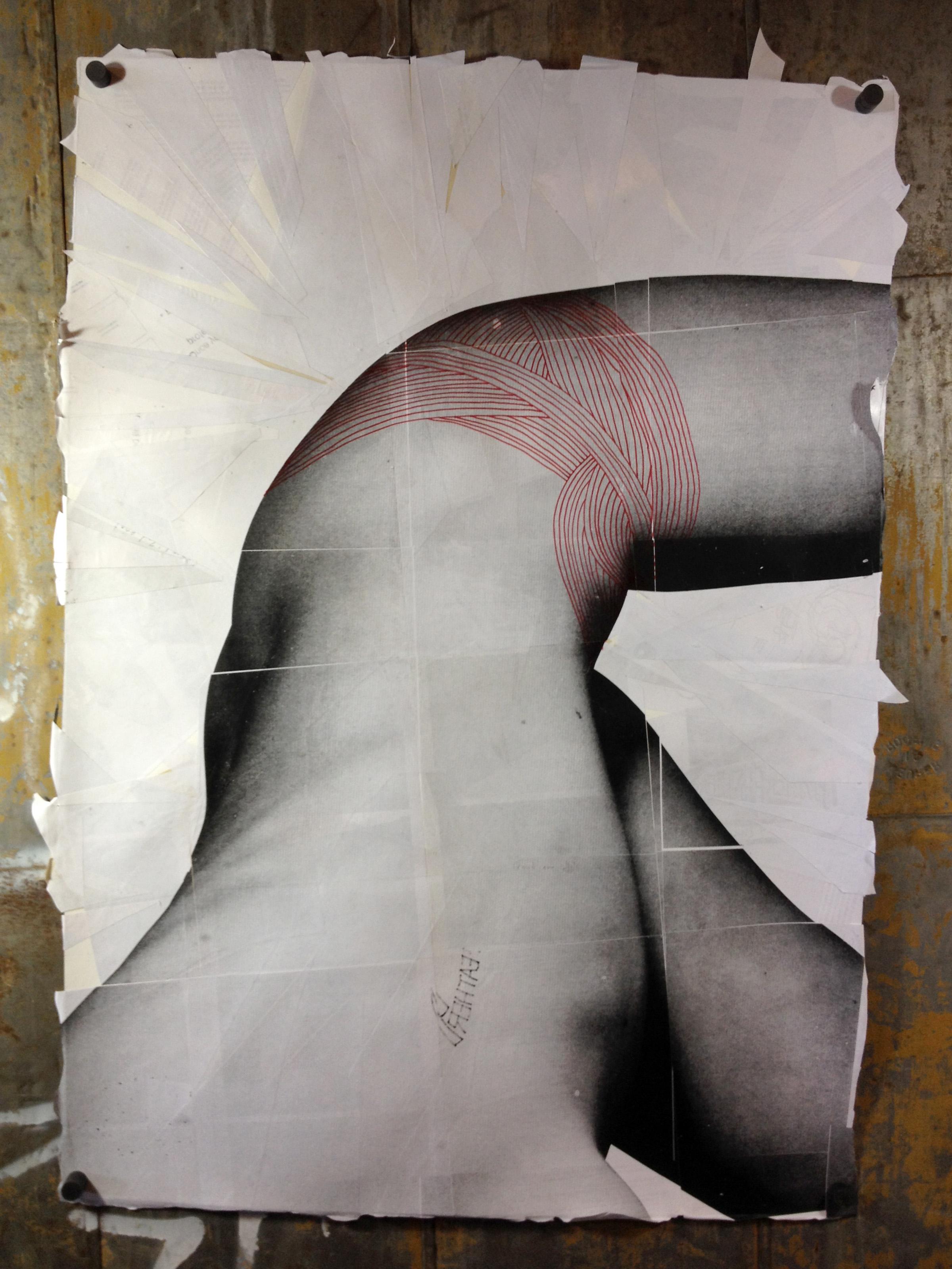 Mark No. 5: Drawing in progress 1