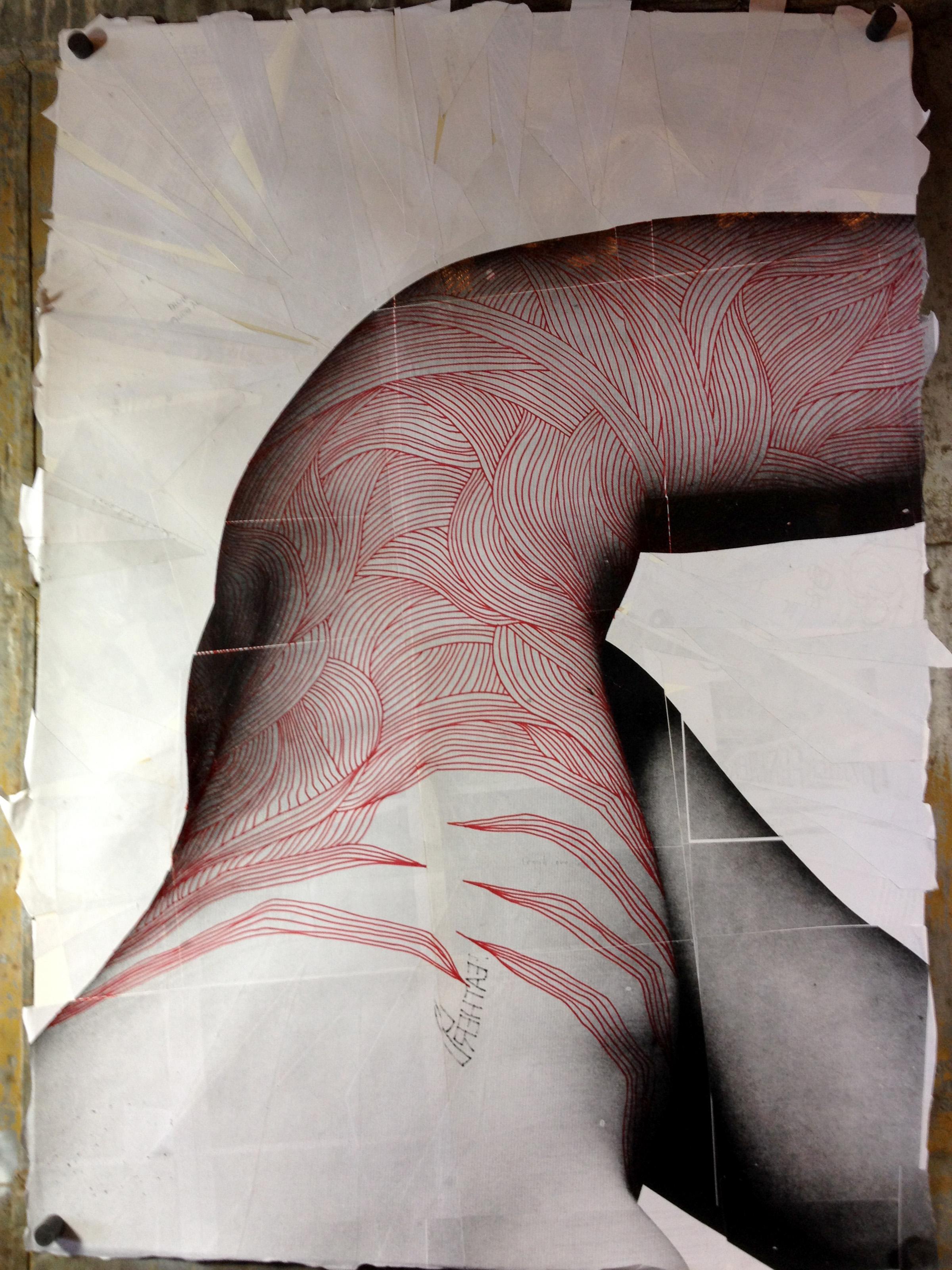 Mark No. 5: Drawing in progress 2