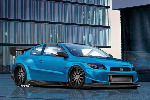 Original Rendering for 2008 Scion Tuner Challenge - Front Angle