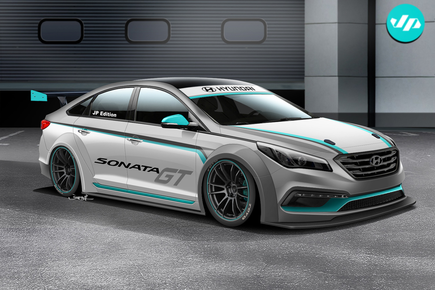 The initial rendering and concept was to build a Street GT sedan. Rendering by Jon Sibal.
