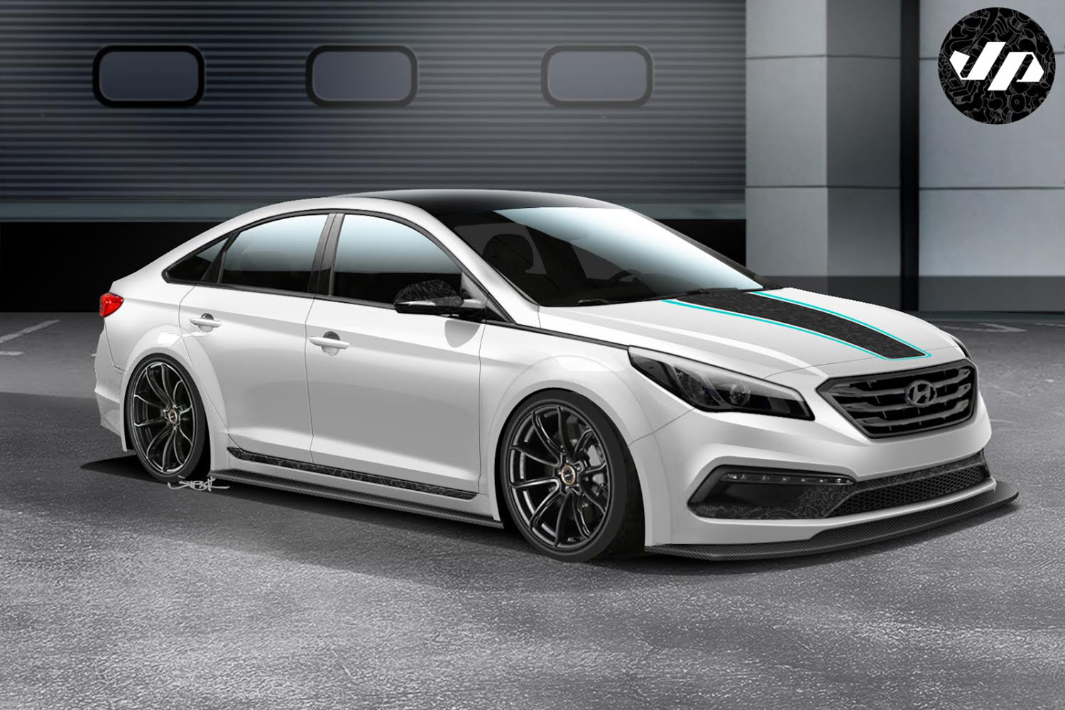The 2nd rendering with a subtle touch of art for SEMA. Rendering by Jon Sibal.