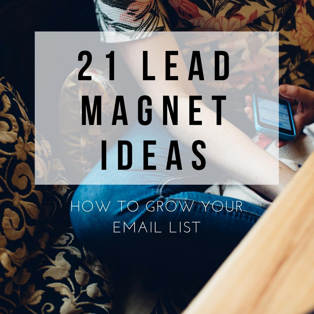 21 Lead Magnet Ideas