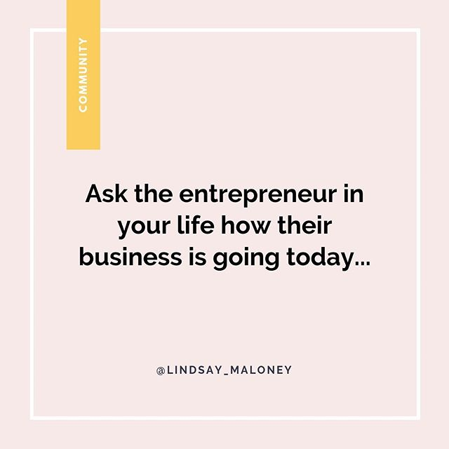 If you have an entrepreneur in your family or you have friends in this space, don't ignore what they do. I encourage you to ask them about their business and how it's going.⠀⠀ ⠀⠀ Just because you may not understand what they do and their work lifestyle is very different than yours, I guarantee you will make their day.⠀⠀ ⠀⠀ Comment and share this post if you agree!⠀⠀ ⠀⠀ ⠀⠀
