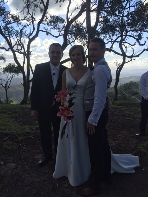 Hi Neal,  Thank you so much for helping us tie the knot!  You made it all pretty straightforward for us.  Kindest regards,  Simon & Miriam  Ceremony held at O'Reilly's Rainforest Retreat