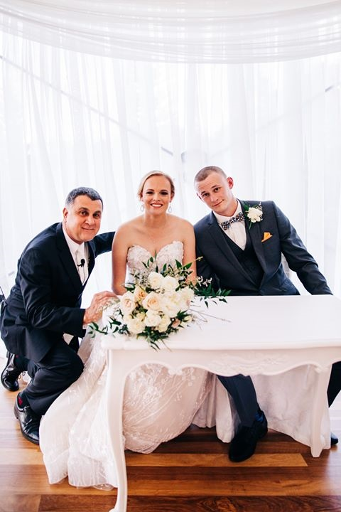 Hi Neal.  We hope you are well.  Please find some of the photos from our wedding we thought you might like.  Thank you for everything  Ceremony held at Hampton Estate Wines