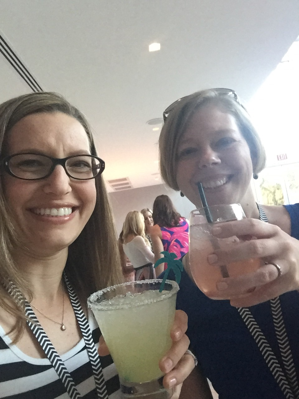 My roomie, Jessica Litman, and me. We met in fall 2015 at the Inspired Retreat and became accountability buddies. I adore her.  Check out her business page, too; she's amazing! If you don't have a biz bestie or accountability buddy, you need one ASAP. Having one has changed my business!