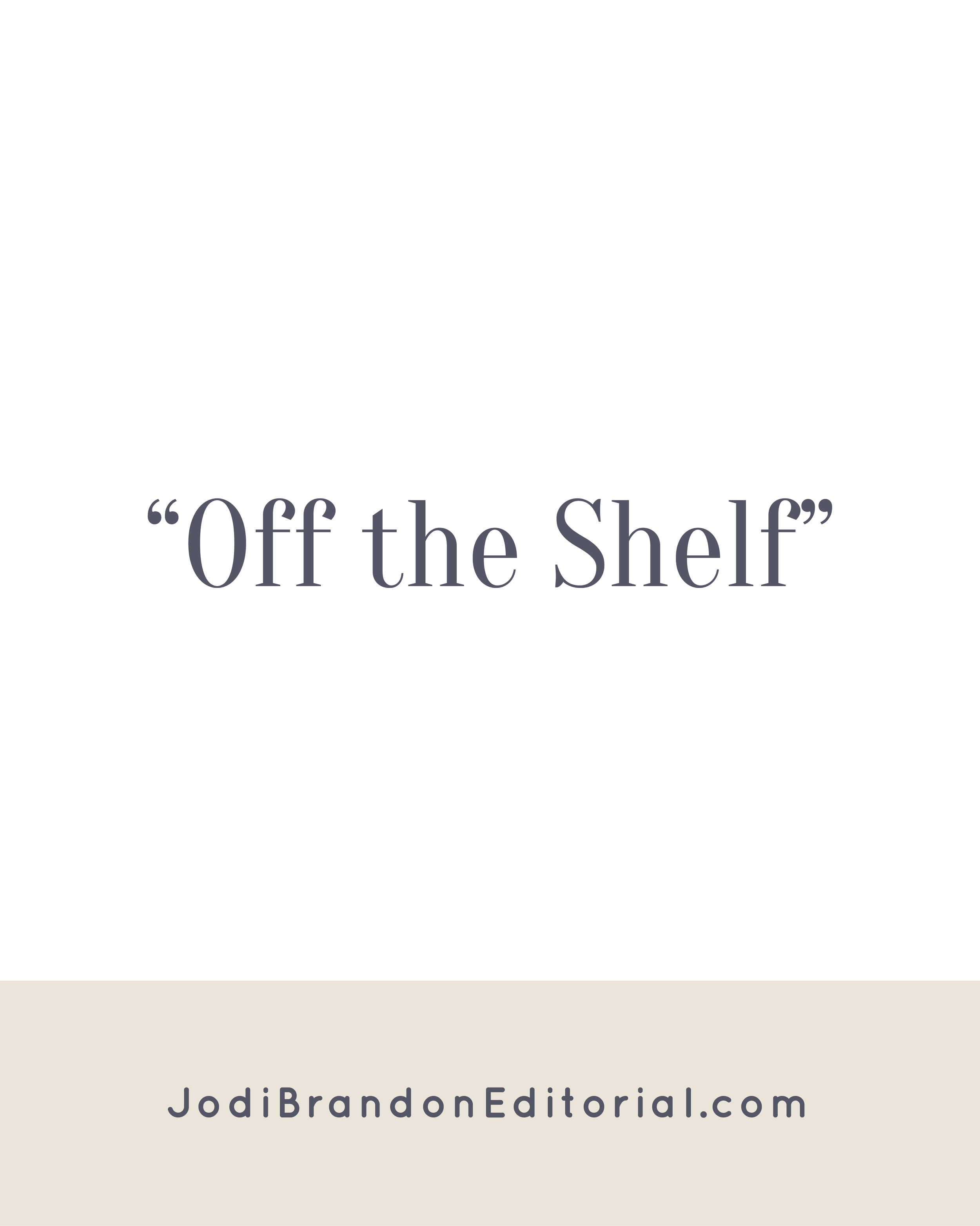 Welcome back to Off the Shelf, friends! We're trying something a bit different with Off the Shelf in 2017. Instead of me posting reviews each month, an entrepreneur friend and I will be trading reviews of the same book. In the spirit of National Organizing Month, first up is the best-seller The Life-Changing Magic of Tidying Up, which I had somehow never read. | Jodi Brandon Editorial