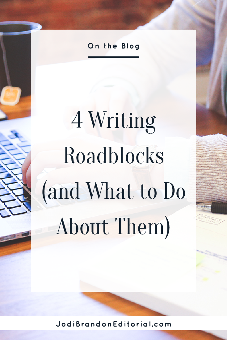 """When writing roadblocks come up, you feel like the loneliest writer on the planet. I promise, though, that this happens to all writers — professional, first-time, whatever. The important thing is to have a plan to work around these creative blocks and get back to writing. So much writing advice tells you, """"Sit your butt in the chair and get the words written. If your goal is to write 1,000 words, then sit there until you write 1,000 words. Period."""" That sounds great in theory, but that's not always realistic. Please don't misunderstand me: I am not suggesting that, at the first sign of not knowing what word to write next, you throw in the towel for the day. (Sorry!)  