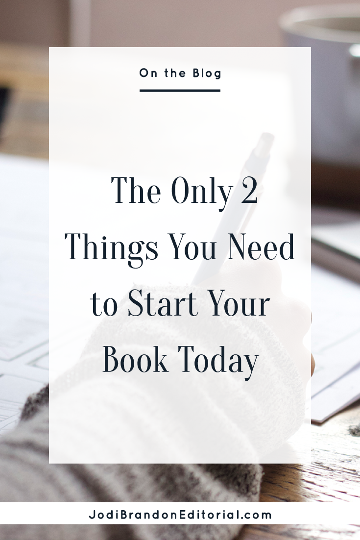 """I hear statements like these all the time from bloggers and creative entrepreneurs. Or they say they want to write a book but that """"now isn't the right time."""" That might be true for a small number of people, but for others: nope. These are all just excuses. The truth is, you only REALLY need two things to start your book today: a plan and accountability.  