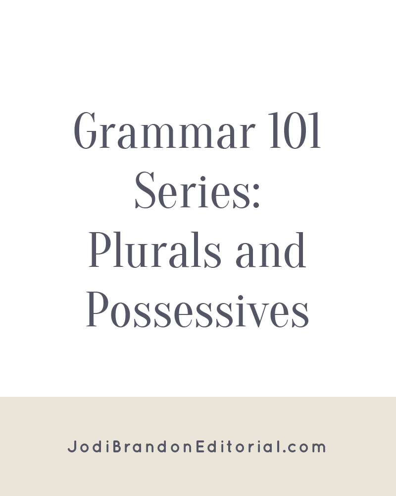 What is it about that harmless little apostrophe that trips up so many people? People ask me often about issues regarding plurals and possessives (and especially the dreaded combo of a plural possessive!). The basic definitions are simple enough, right?  |  Jodi Brandon Editorial