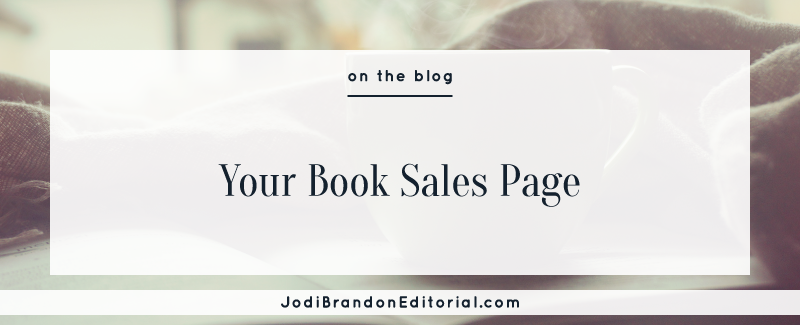 Your Book Sales Page | Jodi Brandon Editorial